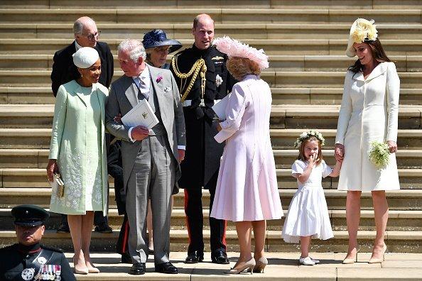 Doria Ragland und Prinz Charles bei Meghans Hochzeit, 2018 | Quelle: Getty Images