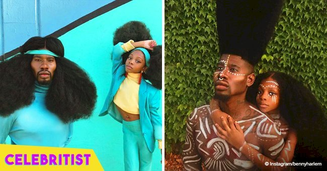This father-daughter duo went viral because of their long natural hair