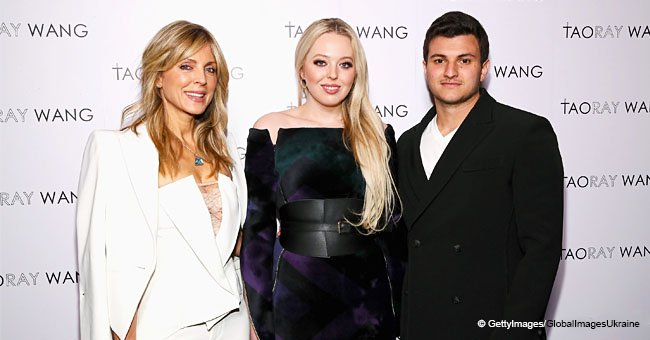 Tiffany Trump makes a rare public appearance with her mom and boyfriend at NY fashion week