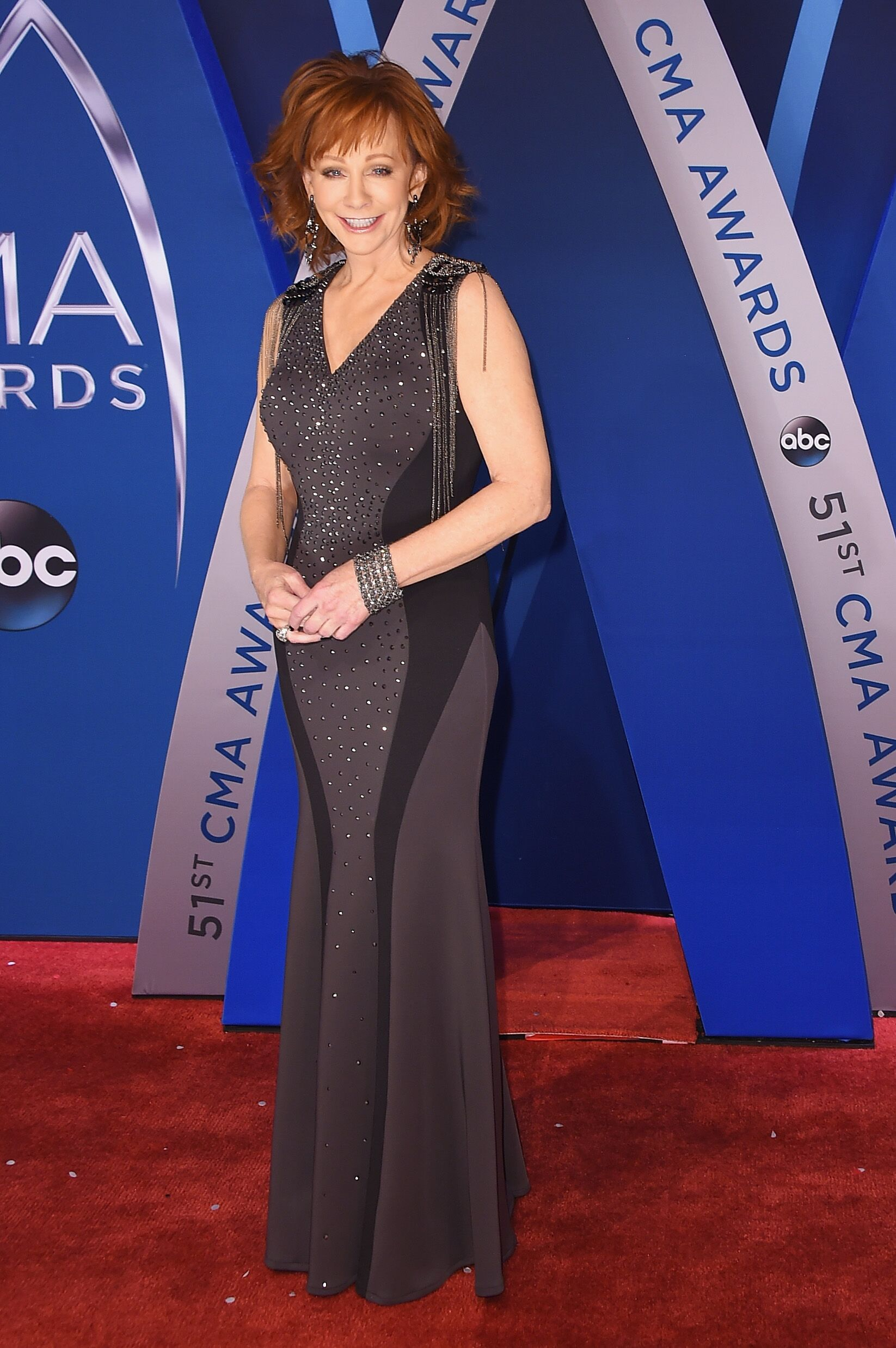 ) Singer-songwriter Reba McEntire attends the 51st annual CMA Awards at the Bridgestone Arena | Getty Images