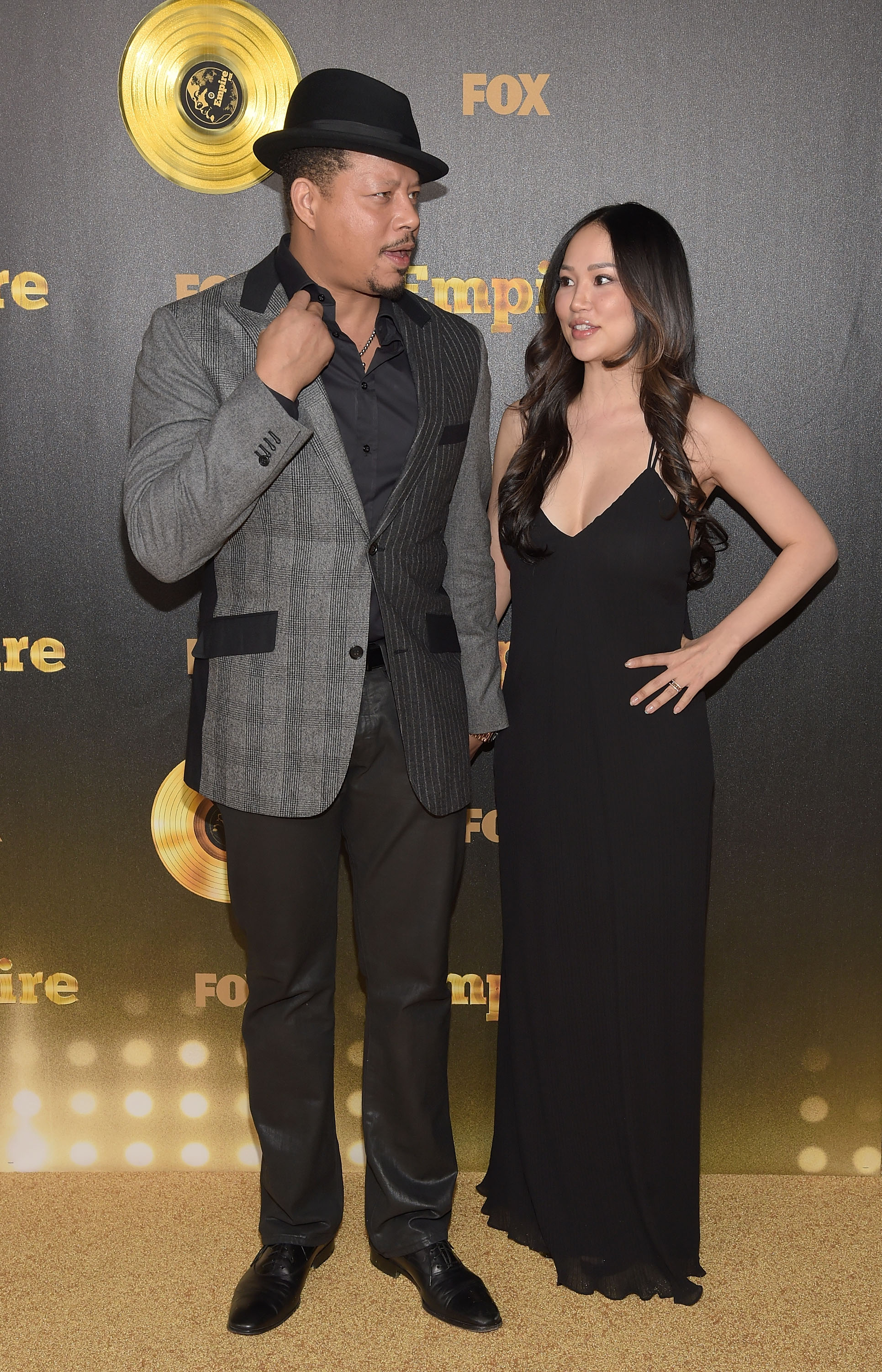 """Terrence Howard and then-wife Mira Pak attending the Hollywood premiere of Fox's """"Empire"""" in January 2015. They divorced the same year. 