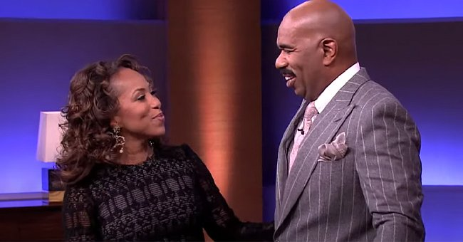 A picture of Steve Harvey and his wife, Marjorie   Photo: YouTube/Steve TV Show