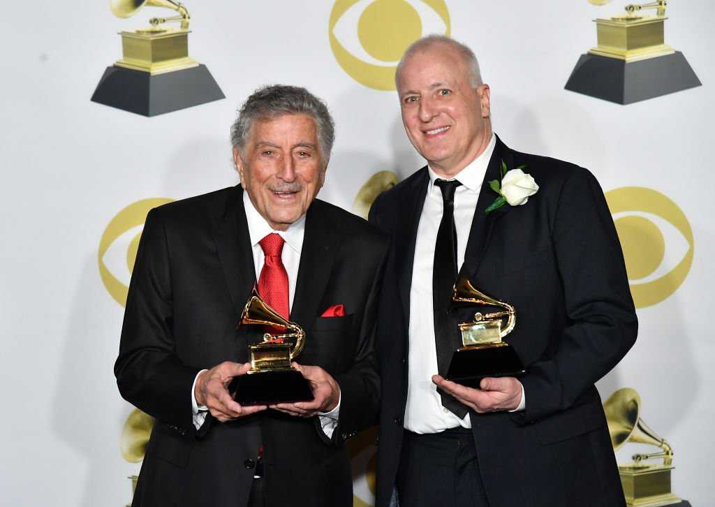 Tony Bennett and Dae Bennett, pose during the 60th Annual GRAMMY Awards at Madison Square Garden on January 28, 2018 in New York City.   Photo: Getty Images