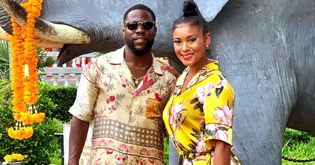 Kevin Hart's Pregnant Wife Eniko Parrish Shows Growing Baby Bump in Vacation Pants