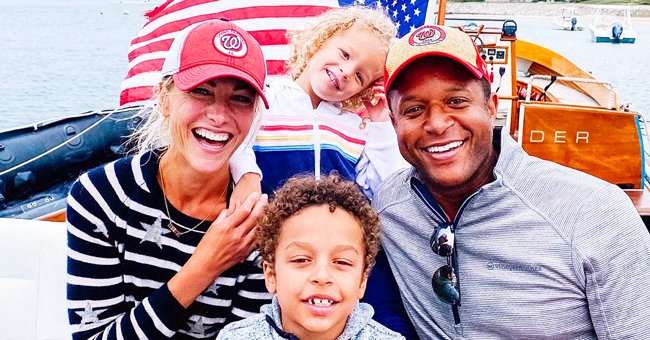 Craig Melvin and Wife Lindsay Are All Smiles in a Photo with Their Kids Onboard a Boat during 4th of July