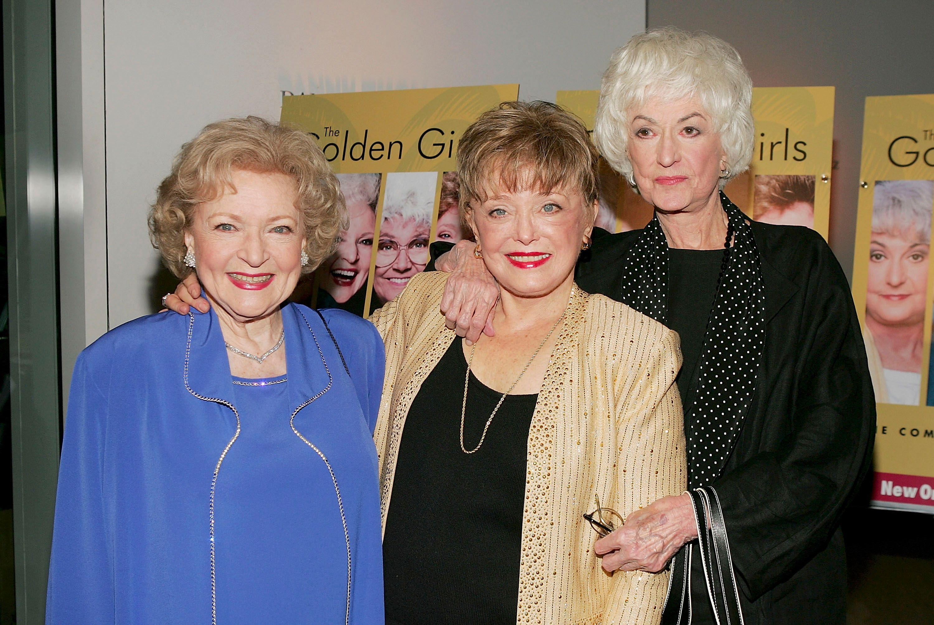 "Betty White, Rue McClanahan and Bea Arthur at the DVD release party for ""The Golden Girls"" in 2004 