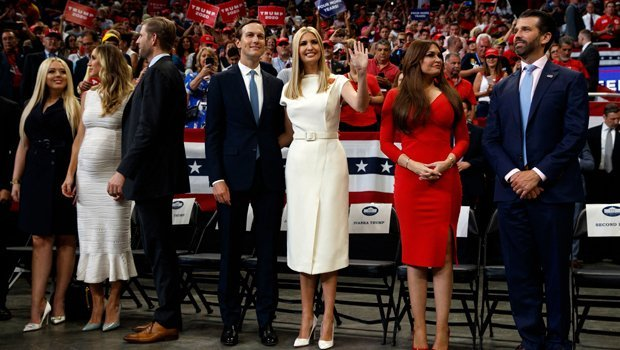Tiffany Trump and family at President Donald Trump's re-election rally | Photo: Hollywood Life