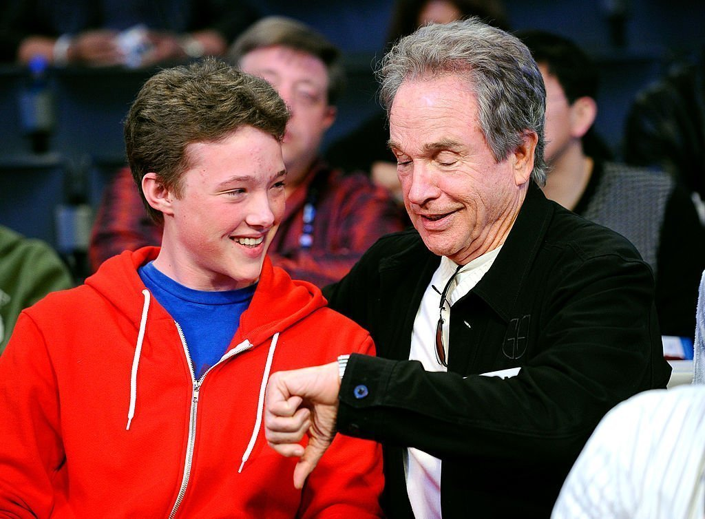 Warren Beatty with son Benjamin. Image Credit: Getty Images.