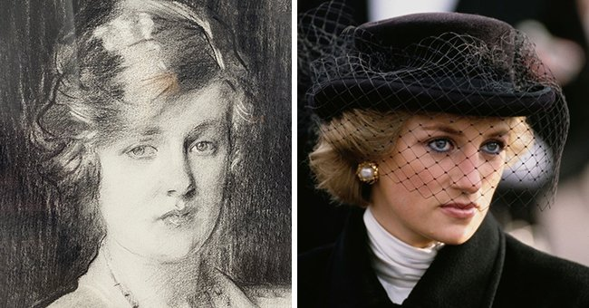 Princess Diana Is the Spitting Image of Grandma Cynthia Spencer in a Portrait Shared by Her Brother