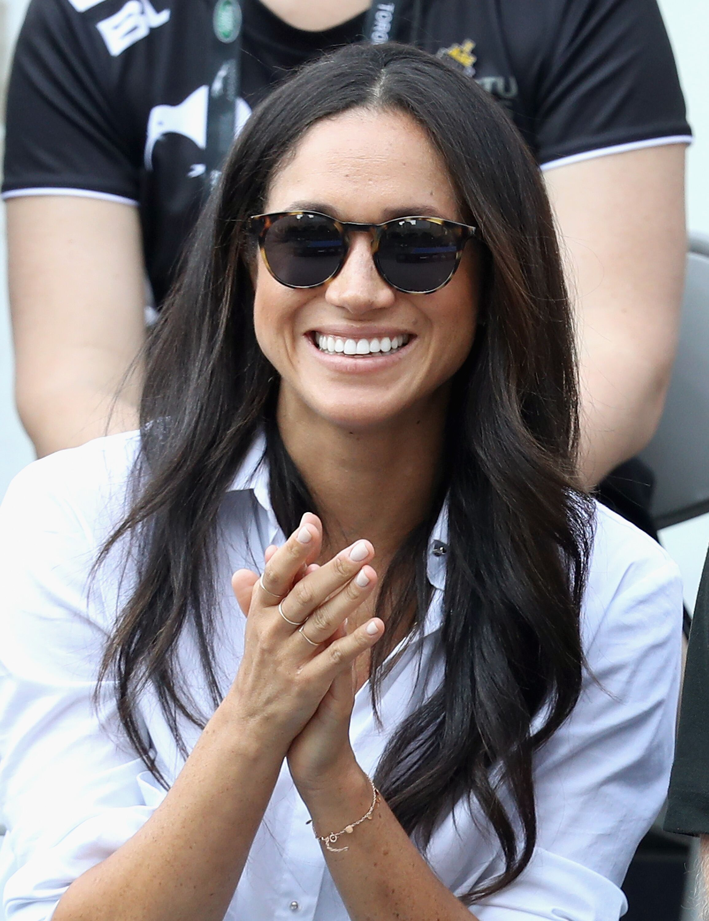 Meghan Markle assiste à un match de tennis en fauteuil roulant pendant les Jeux Invictus 2017 au Nathan Philips Square le 25 septembre 2017 à Toronto, Canada | Photo : Getty Images
