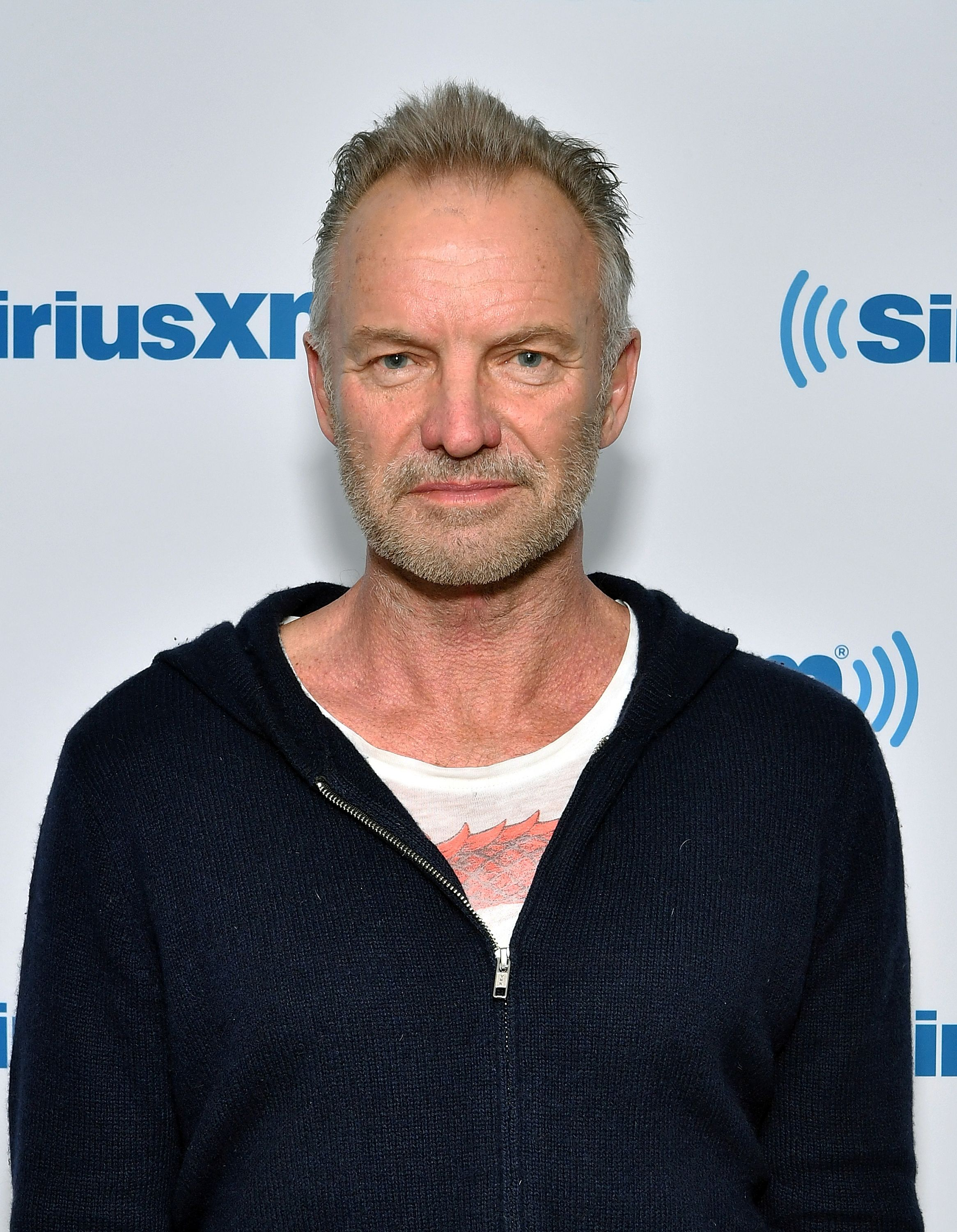 Sting visits SiriusXM Studios on April 29, 2019 | Photo: Getty Images