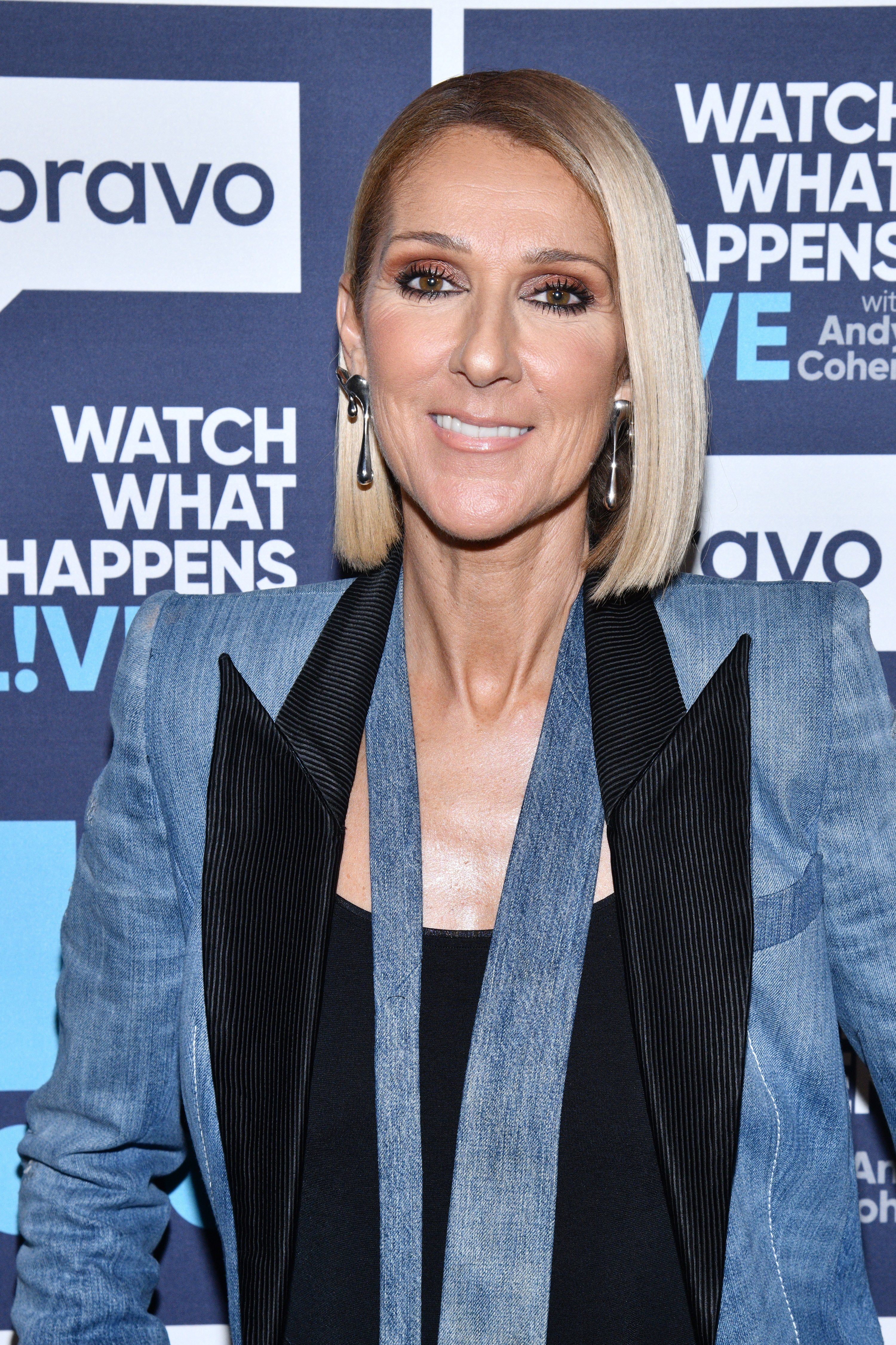 """Celine Dion appears on """"Watch What Happens Live"""" with Andy Cohen 
