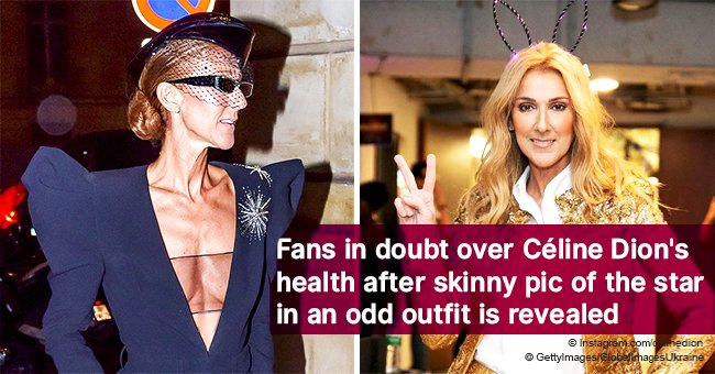 Fans in doubt over Céline Dion's health after skinny pic of the star in an odd outfit is revealed