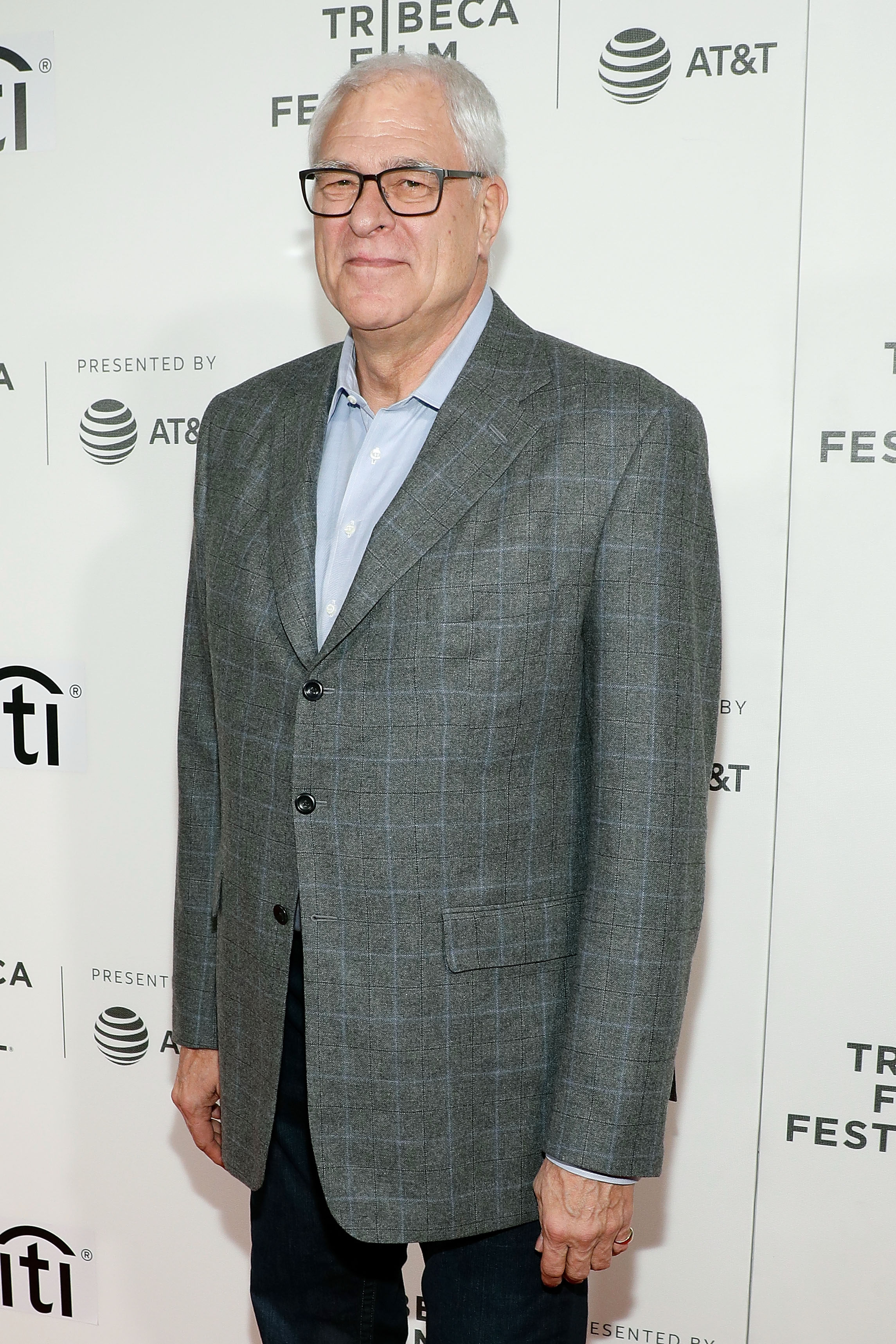 New York Knicks President Phil Jackson at Tribeca Talks during the 2017 Tribeca Film Festival at Borough of Manhattan Community College on April 23, 2017 | Photo: Getty Images