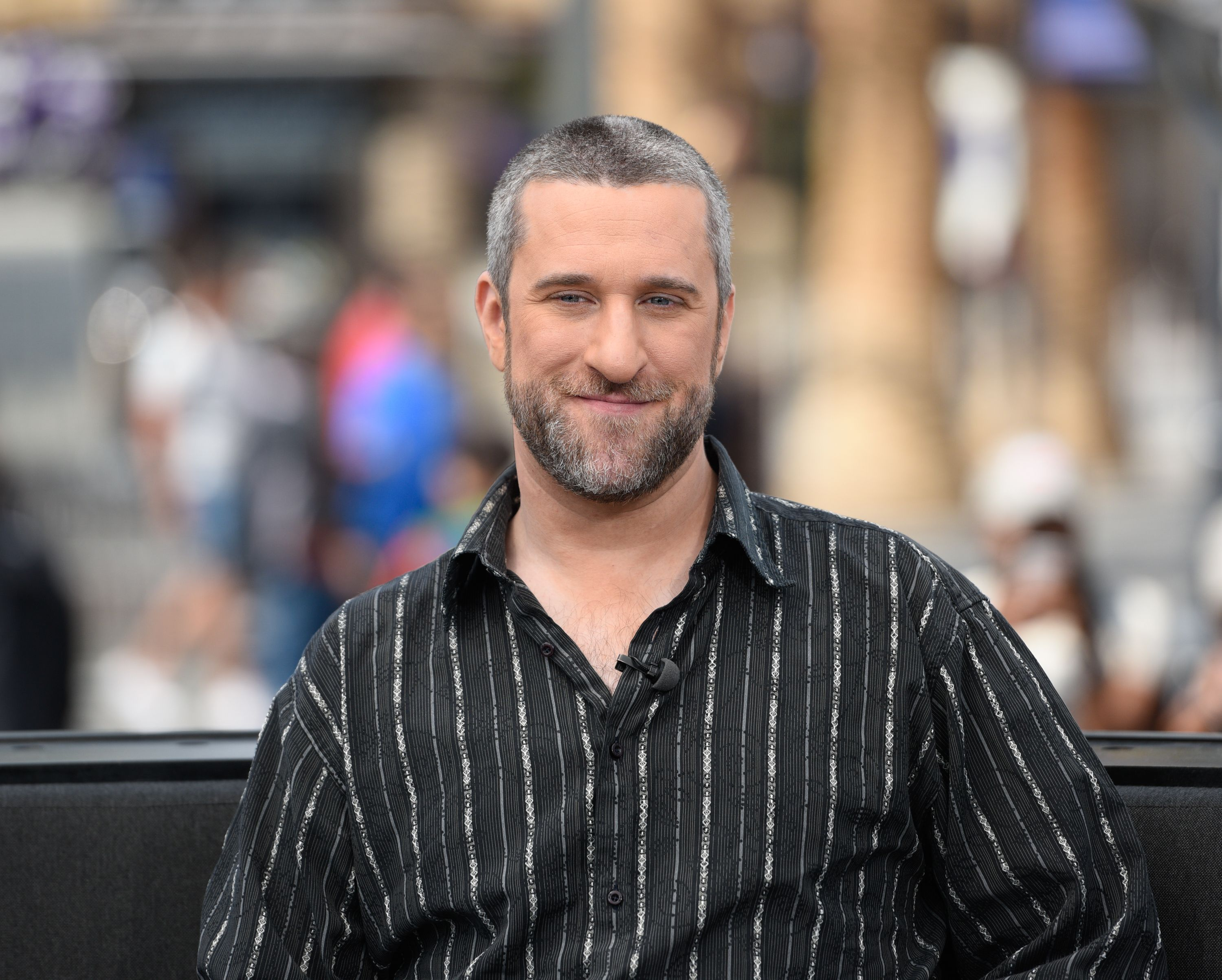 "Dustin Diamond visits ""Extra"" at Universal Studios Hollywood on May 16, 2016, in Universal City, California 