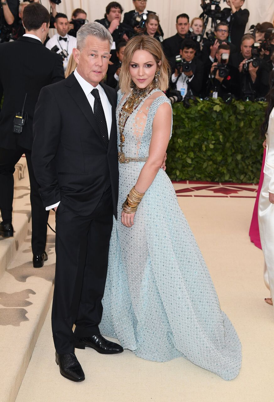 David Foster and Katharine McPhee attend the Heavenly Bodies: Fashion & The Catholic Imagination Costume Institute Gala. | Source: Getty Images