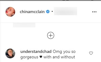 A screenshot of a fan's comment on China Anne McClain's post on her Instagram page | Photo: instagram.com/chinamcclain/
