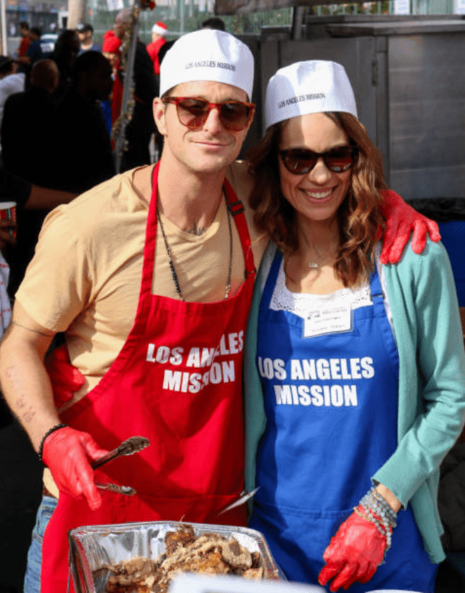 Cameron Douglas and his girlfriend, Viviane Thibes at a charity event giving food to the homeless, on December 21, 2018, in Los Angeles, California | Source: Getty Images (Photo by gotpap/Bauer-Griffin/GC Images)