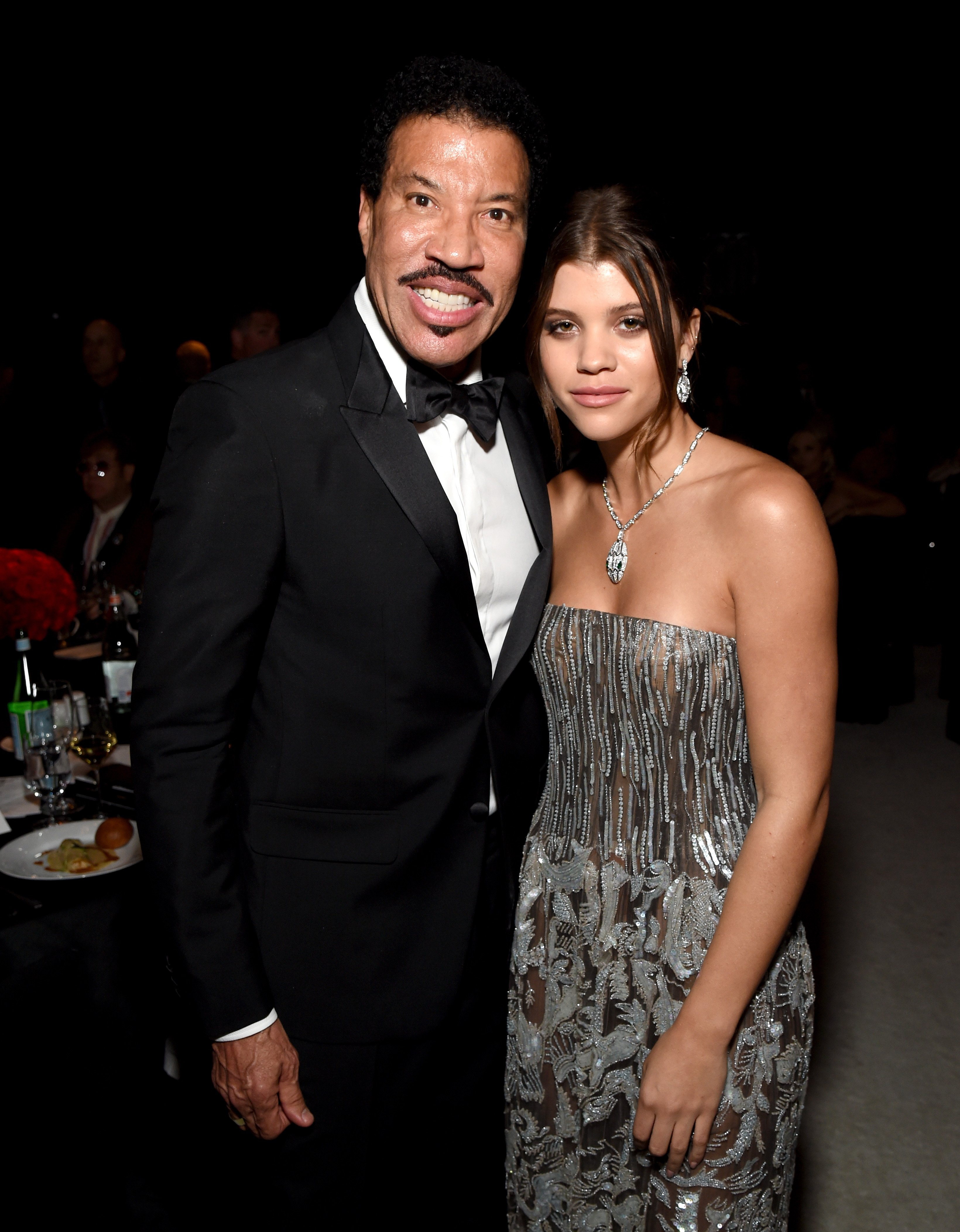 Lionel Richie and Sofia Richie attend the 26th annual Elton John AIDS Foundation Academy Awards Viewing Party on March 4, 2018, in West Hollywood, California. | Source: Getty Images.