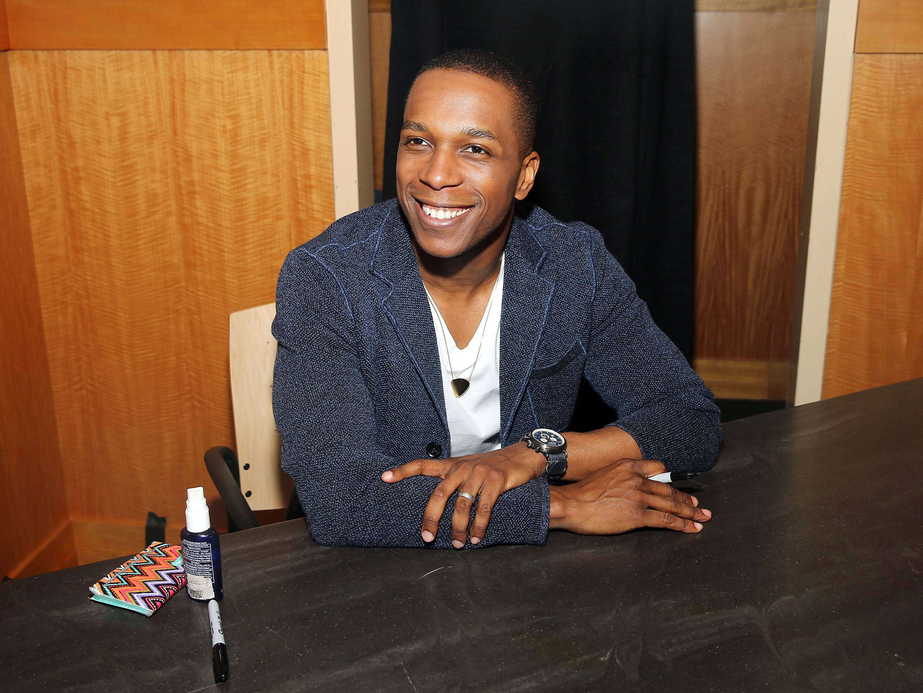 "Leslie Odom Jr.  during the CD signing for his CD ""Leslie Odom Jr"" at Barnes & Noble, 86th & Lexington on July 11, 2016 in New York City. 