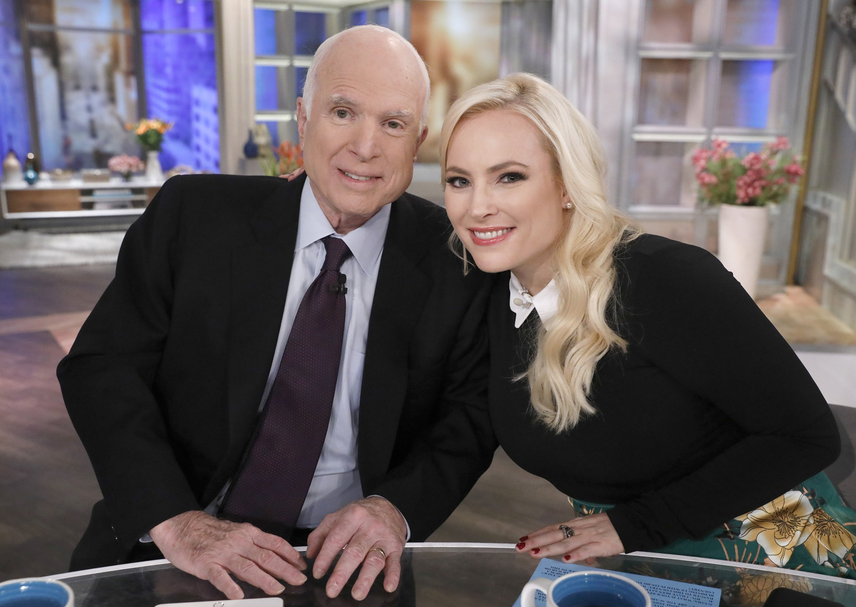 """John McCain and daughter Meghan McCain on """"The View"""" on October 23, 2017   Photo: Getty Images"""