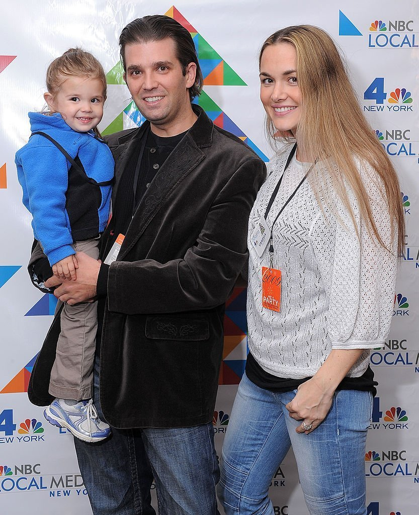 Donald Trump Jr. (C), his wife Vanessa Haydon Trump (R) and their daughter Kai Madison Trump attend WNBC's Rockefeller Center Tree Lighting celebration at Rock Center Cafe | Photo: Getty Images