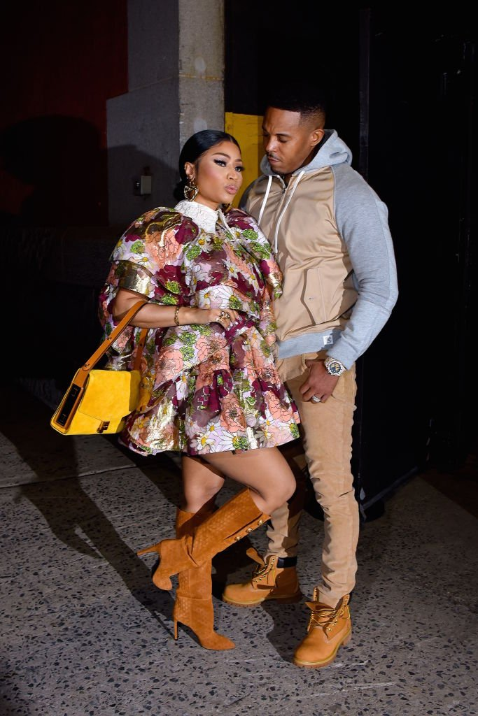 "Nicki Minaj and husband Kenneth Petty seen at a Marc Jacobs NYFW event in Manhattan this year | Photo"" Getty Images"