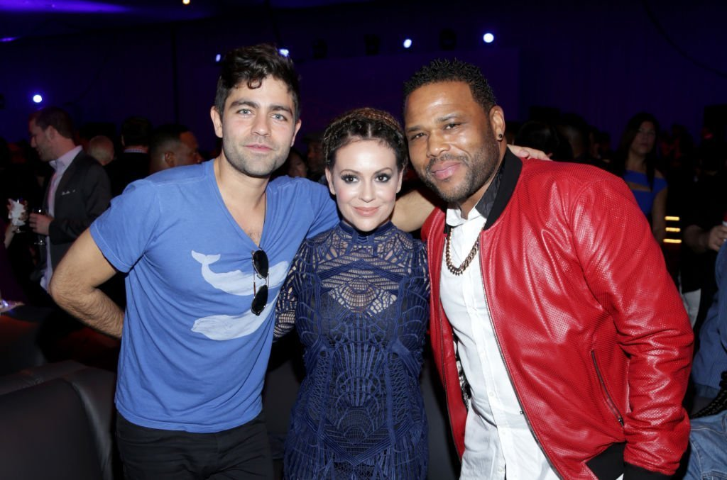 Adrian Grenier, Alyssa Milano, and Anthony Anderson at the Rolling Stone Live: Houston. | Source: Getty Images
