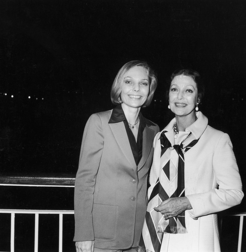 Judy Lewis and her mother Loretta Young aboard the Pacific Princess cruise ship in California circa 1978 | Photo: Getty Images