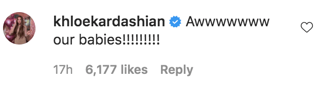 Khloe Kardashian commented on Kim Kardashian's photo of True Thompson and Psalm West | Source: Instagram.com/kimkardashian
