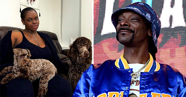 Snoop Dogg's Daughter Cori Broadus Looks Cute Posing Makeup-Free With Her Adorable Dogs