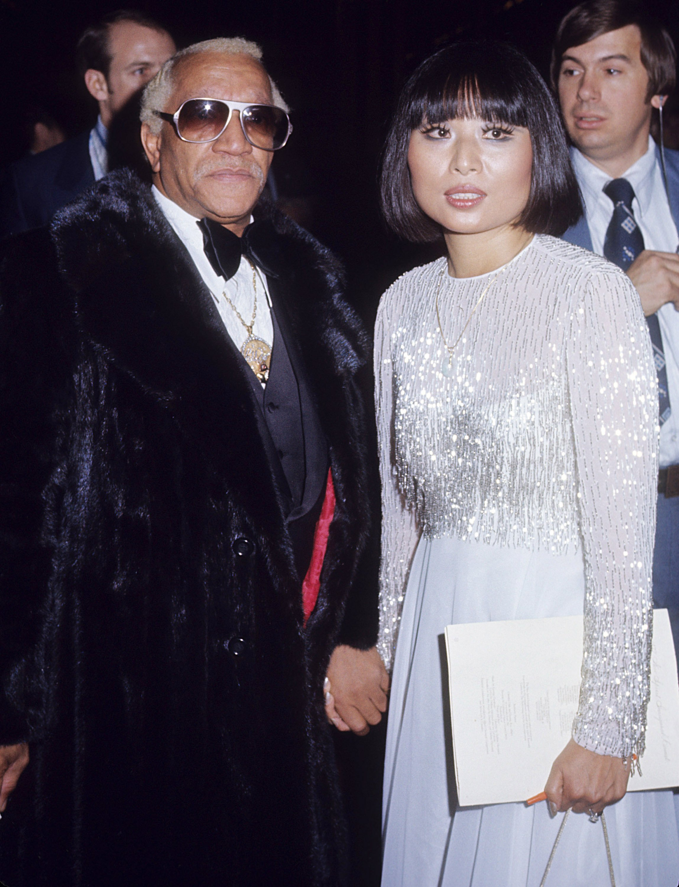 Redd Foxx and wife Yun Chi Chung at President Jimmy Carter's Inaugural Ball on January 20, 1977 in Washington D.C. | Photo: Getty Images