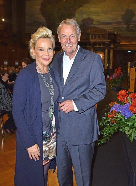 Jörg Wontorra und Susanne Bausch, Hamburg, 2018 | Quelle: Getty Images