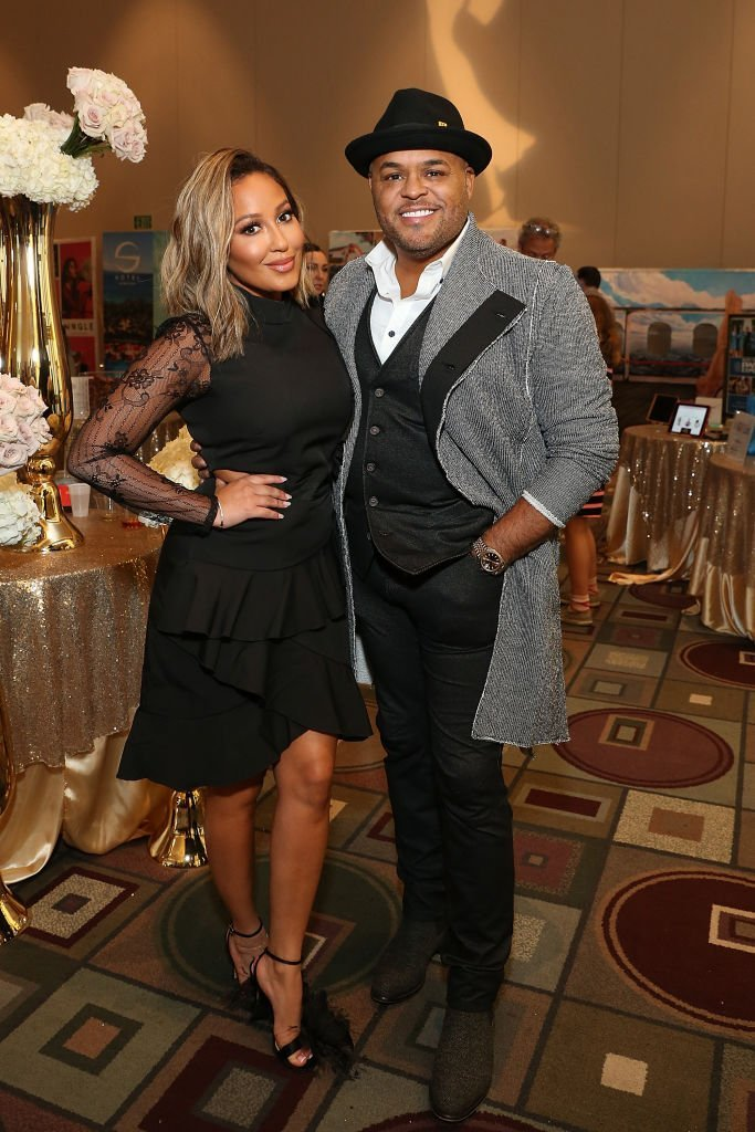 Adrienne Bailon Houghton and Israel Houghton at the Daytime Emmy Awards Pre-Awards Party in May 2019. | Photo: Getty Images