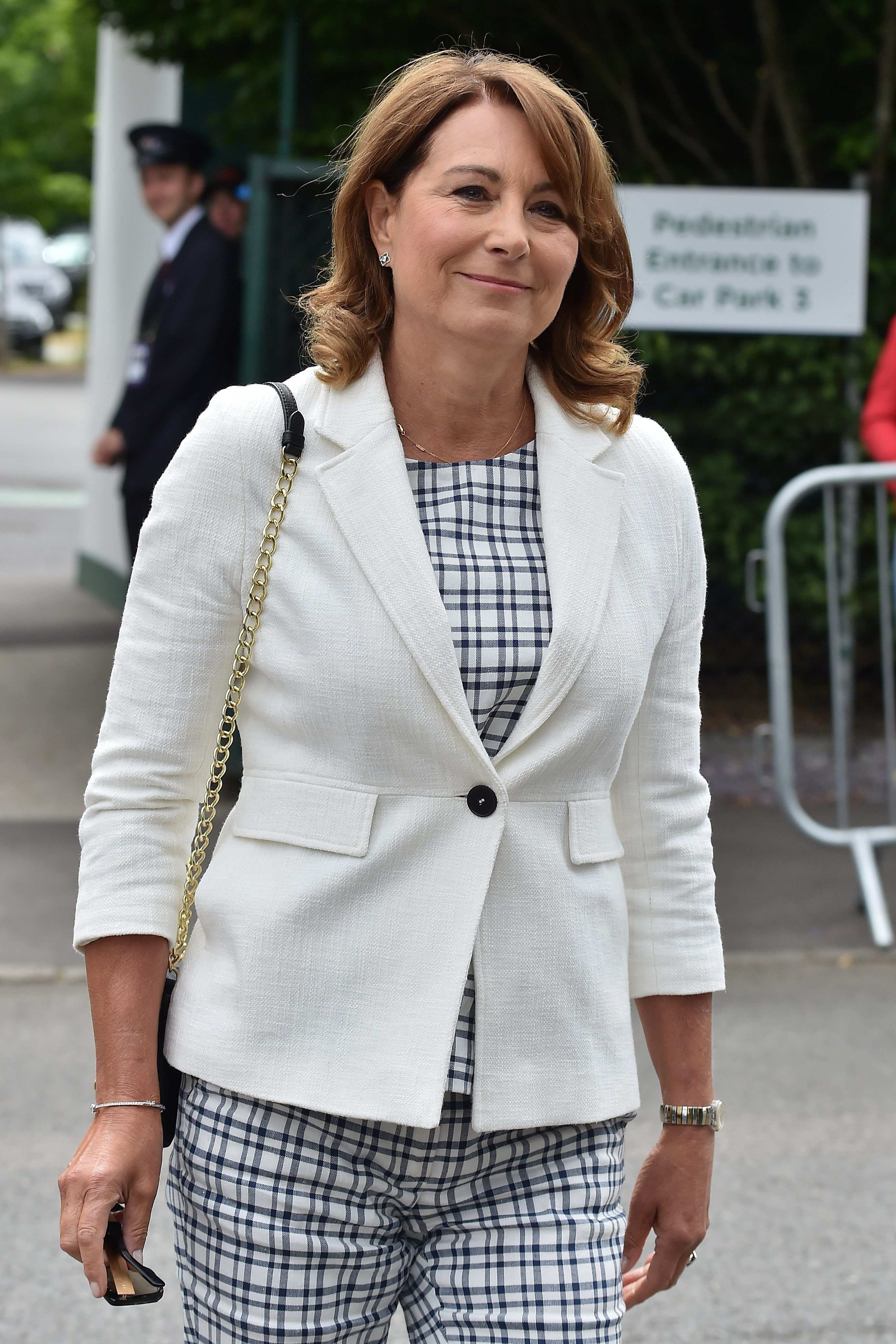 Carole Middleton at Wimbledon 2017 on July 14, 2017 in London, England | Photo: Getty Images