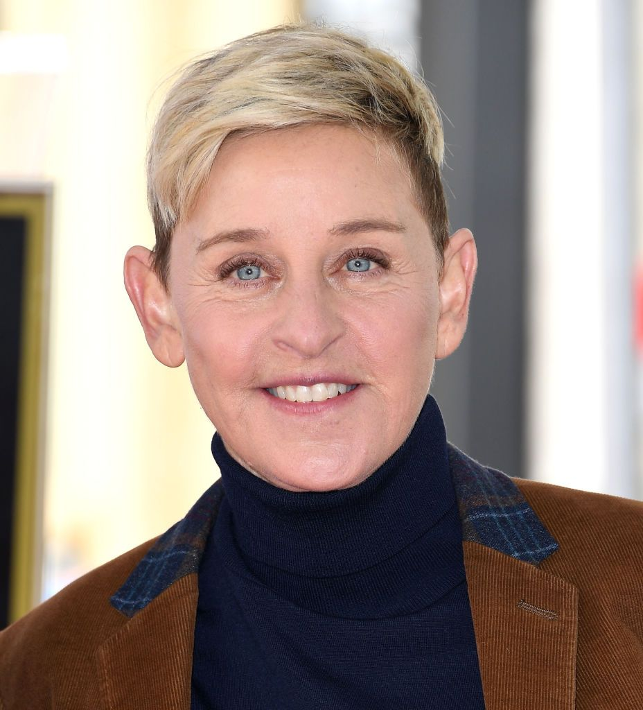 Ellen DeGeneres at The Hollywood Walk Of Fame ceremony honoring Pink with a star on February 05, 2019 | Photo: Getty Images