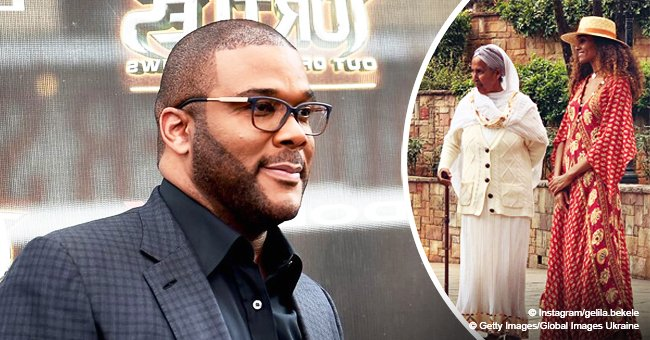 Tyler Perry's longtime partner turns heads in flowy dress in photo with grandma while in Ethiopia
