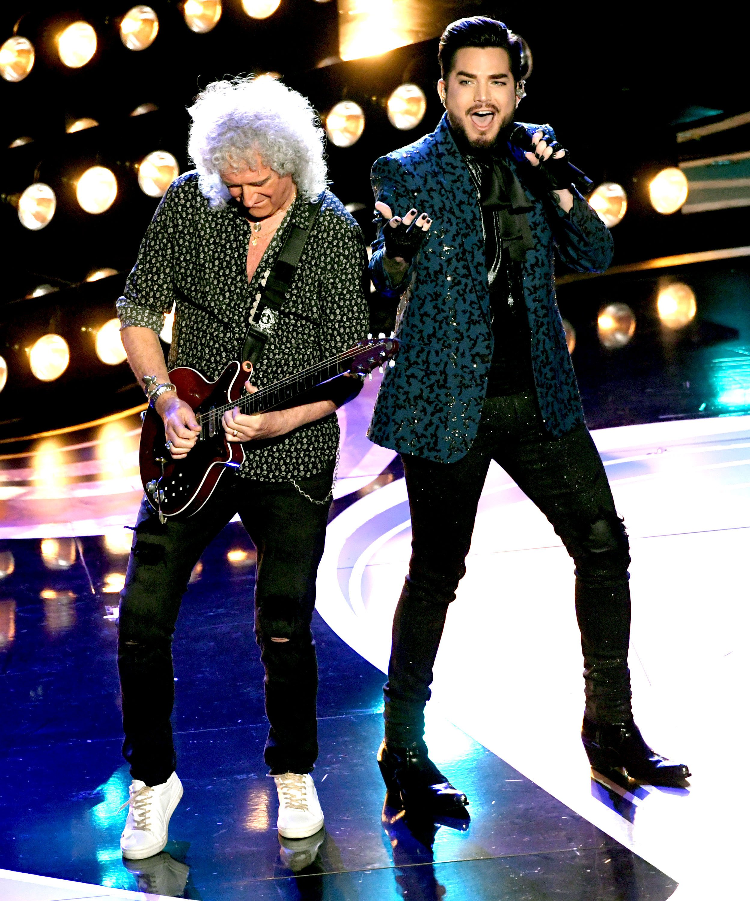 Brian May and Adam Lambert perform onstage during the 91st Annual Academy Awards on February 24, 2019, in Hollywood, California. | Source: Getty Images.