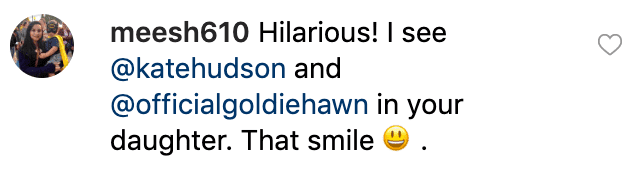 Fan's comment on Oliver Hudson's photo. | Source: Instagram/theoliverhudson