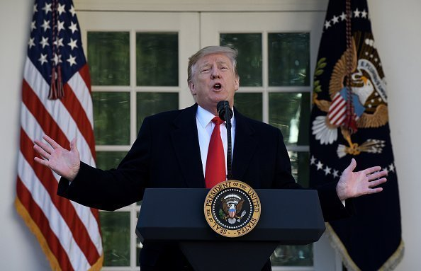 US President Donald Trump during an event in the Rose Garden of the White House January 25, 2019 | Photo: Getty Images