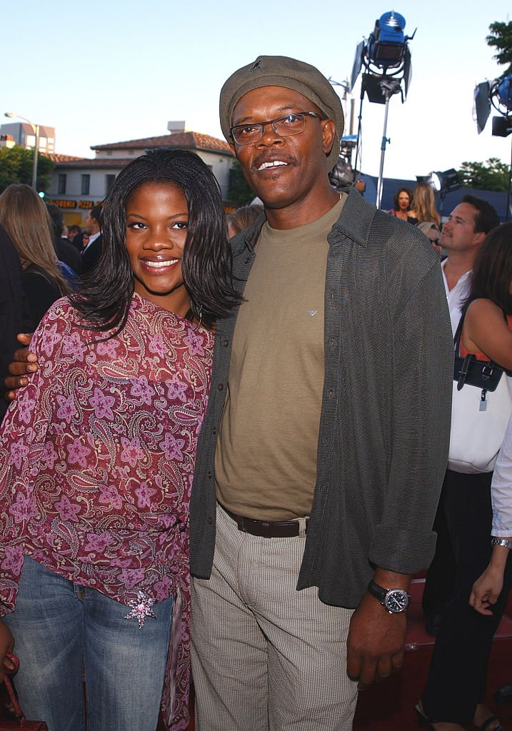 """Samuel L. Jackson and daughter arriving at the world premiere of """"xXx"""" on August 05, 2002 