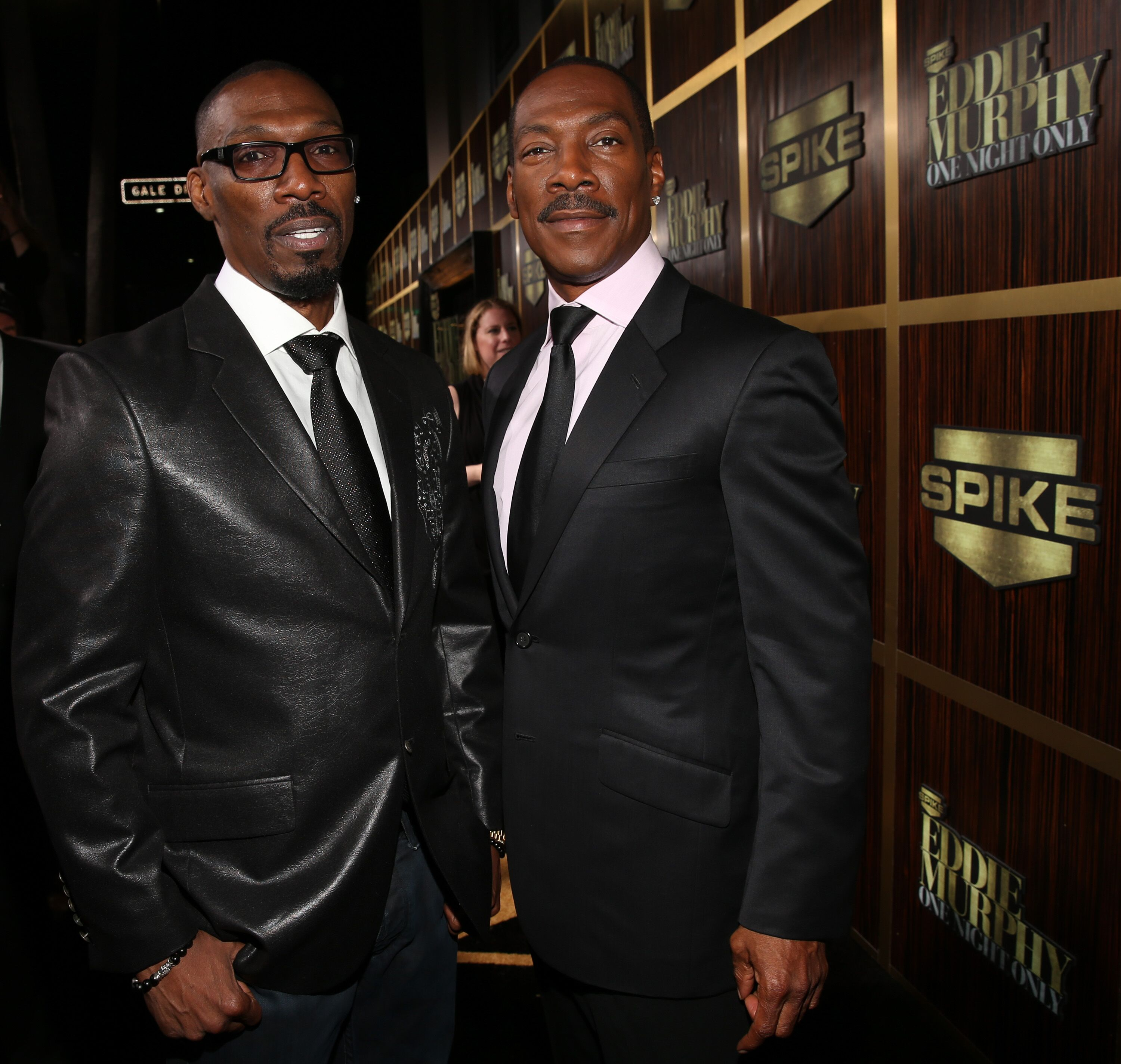 """Charlie Murphy and Eddie Murphy arrive on the red carpet at """"Eddie Murphy: One Night Only"""" on November 3, 2012 in Beverly Hills, California 