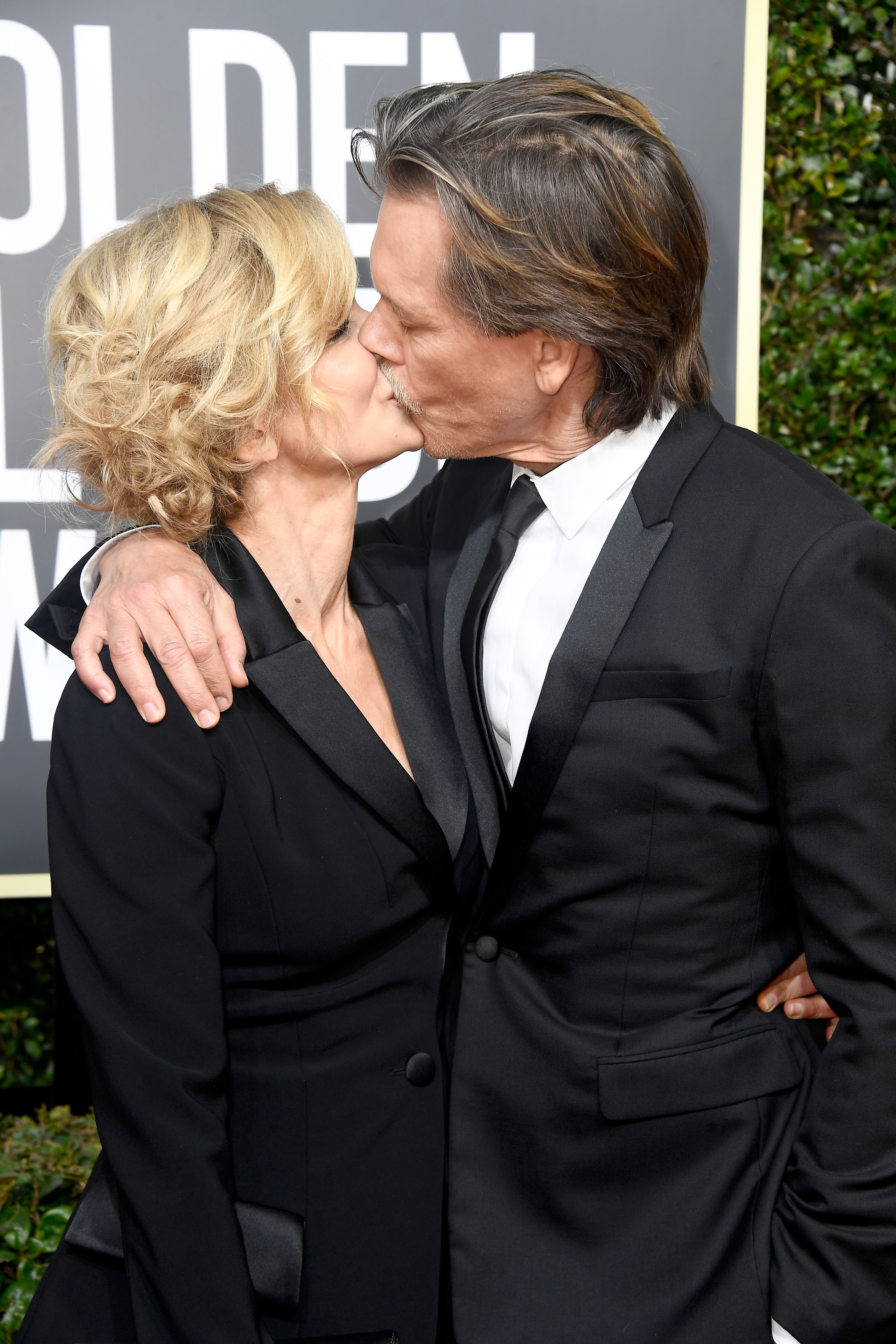 Kyra Sedgwick and Kevin Bacon attend the 75th Annual Golden Globe Awards in Beverly Hills, California on January 7, 2018 | Photo: Getty Images