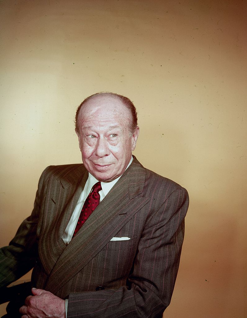 Late American Actor Bert Lahr posed for a portrait while corporately dressed on January 01, 1955   Photo: Getty Images