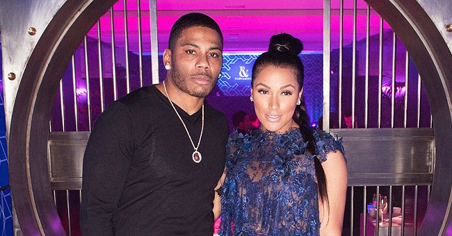 Nelly's Girlfriend Shantel Jackson Leaves Little to Imagination in Burgundy Lingerie on Valentine's Day