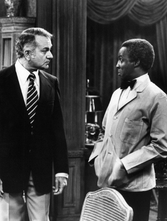 "Robert Mandan (Chester Tate) and Robert Guillaume (Benson) from the television program ""SOAP."" 