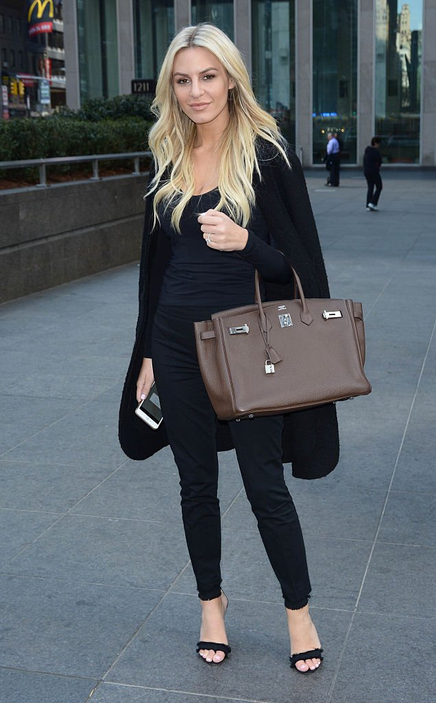 """The """"Rich Kids of Beverly Hills"""" star Morgan Stewart dressed in black while walking in New York City. 