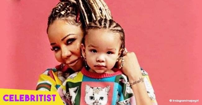 Tiny Harris flaunts curves in matching bathing suit with Baby Heiress amid T.I.'s cheating drama