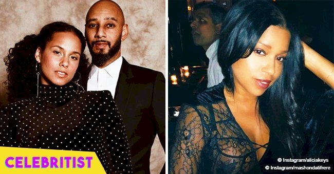 Alicia Keys is all smiles in video with with husband Swizz Beatz and his ex-wife Mashonda