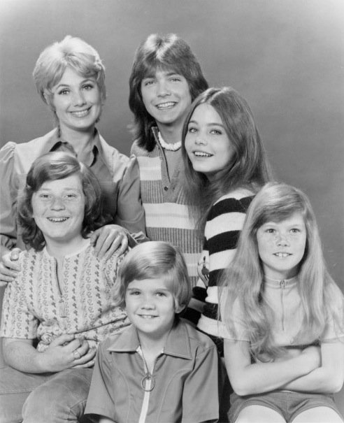 "Suzanne Crough and the rest of the cast of ""The Partridge Family"" in 1972 